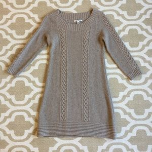 BR small sweater dress w gorgeous details